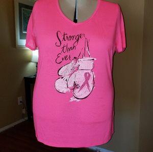 Lane Bryant Livi Active Breast Cancer Awareness T